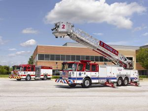 Howard County, MD engine and tower ladder